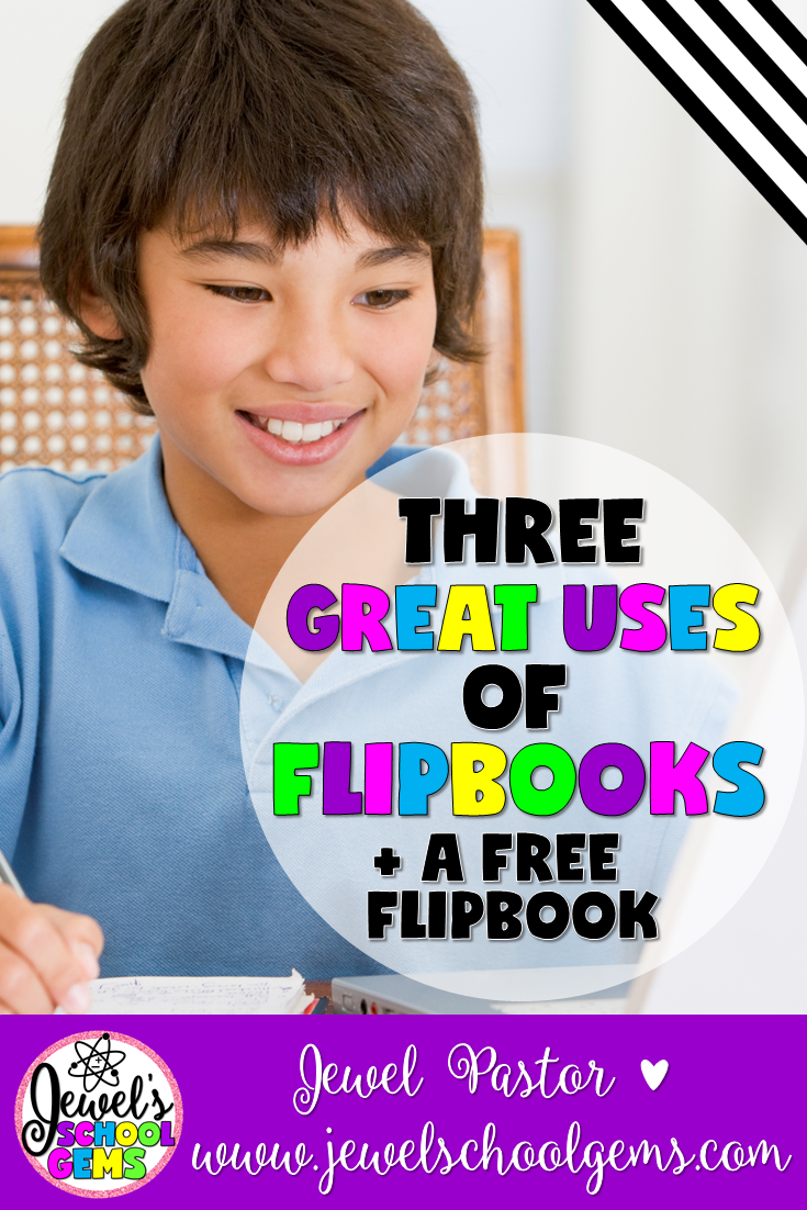 3 GREAT USES OF FLIPBOOKS by Jewel Pastor of Jewel's School Gems | Have you ever tried using flipbooks in the classroom? If you haven't, well, you and your students are missing out! Not only are flipbooks a refreshing break from your usual textbook or worksheet, students also have a lot of fun assembling and filling them out. Flipbooks have tons of uses. Seriously, there are just so many things you can do with them, but for today's post, I'll talk about three great uses of flipbooks. Grab a freebie, too!
