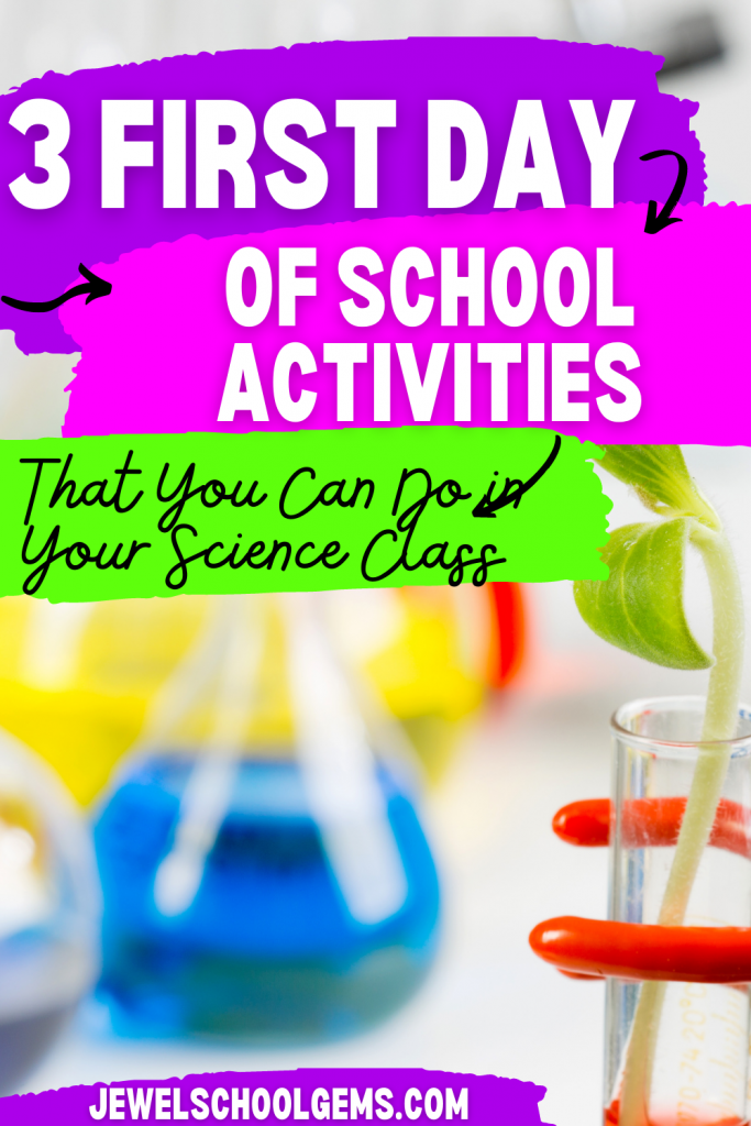 3 First Day of School Activities That You Can Do in Your Science Class by Jewel Pastor   Read about three first day of school activities for your science class and grab an all about me freebie.
