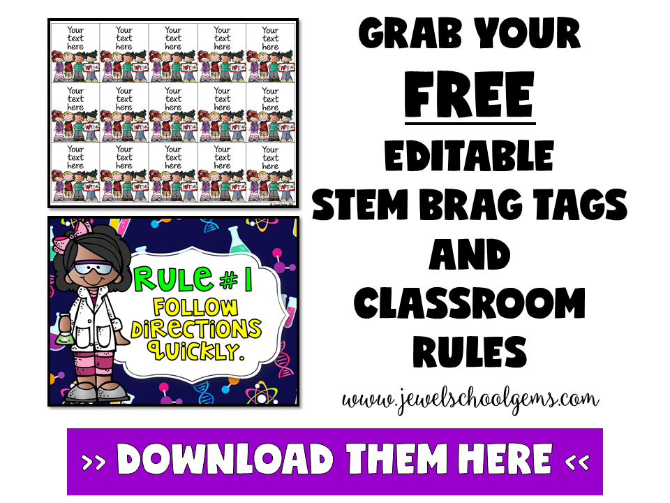 5 BEHAVIOR MANAGEMENT STRATEGIES FOR THE STEM CLASSROOM (OR ANY CLASSROOM FOR THAT MATTER) | BY JEWEL PASTOR OF WWW.JEWELSCHOOLGEMS.COM | Struggling with behavior management? Here are 5 strategies that you'll find really helpful in the STEM classroom (or any classroom!). Freebies inside!
