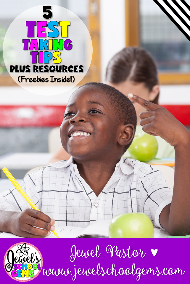 TEST TAKING TIPS PLUS RESOURCES (FREEBIES INSIDE) BY JEWEL PASTOR OF JEWELSCHOOLGEMS.COM | Testing Week is a part of school life. We don't have to like it or agree with it, but with a little planning and preparation, we can make it bearable.