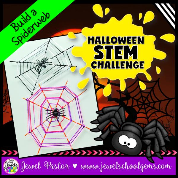 Spiderweb Halloween STEM Activity