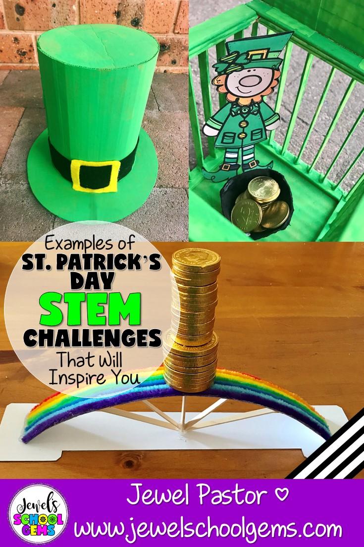 St Patrick's Day STEM Activities - Rainbow Bridge, Leprechaun Trap and Leprechaun Hat