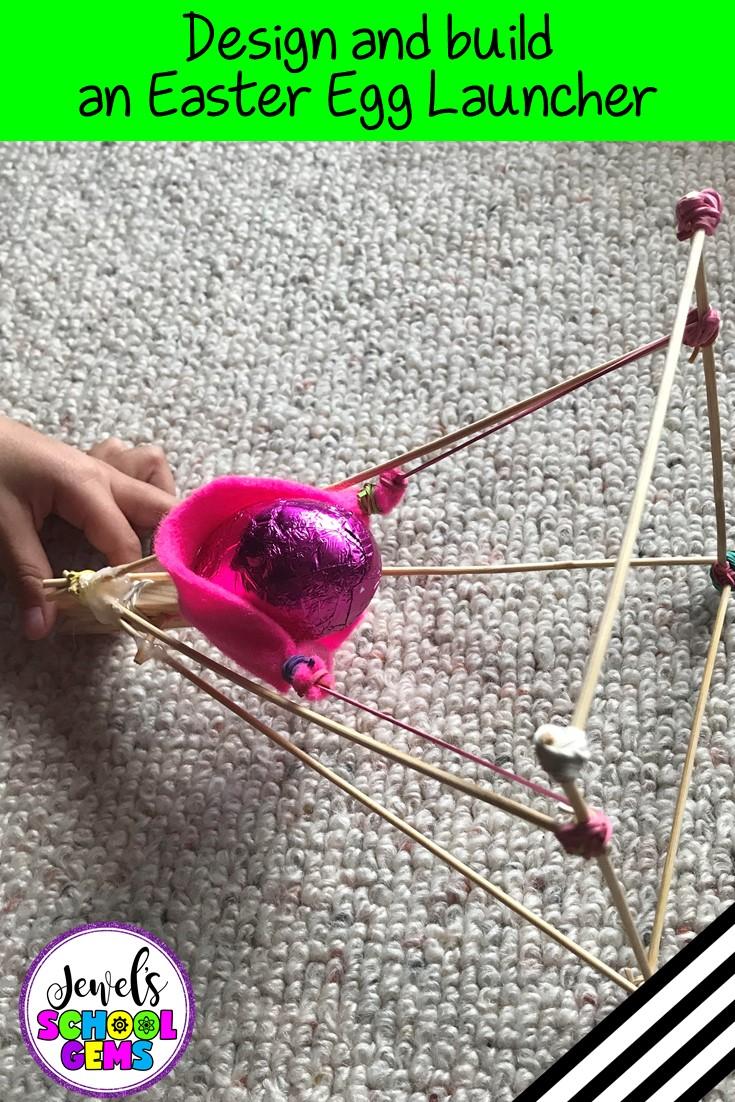 Egg Launcher Easter STEM Activity