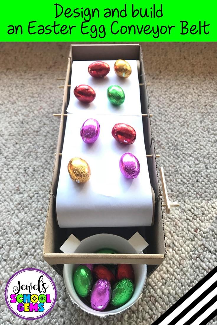 Easter Egg Conveyor Belt Easter STEM Activity