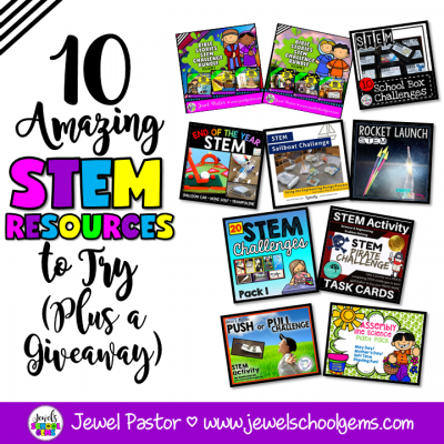 10 STEM RESOURCES TO TRY TODAY | BY JEWEL'S SCHOOL GEMS | Looking for STEM resources to help you engage your students till the end of the school year and beyond? Read on and be amazed!