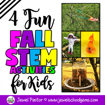 FOUR FUN FALL STEM ACTIVITIES FOR KIDS | Jewel Pastor of Jewel's School Gems | Looking for fun fall STEM activities for kids? Well, you came to the right place. Read about three Fall STEM Activities plus get a FREEBIE!