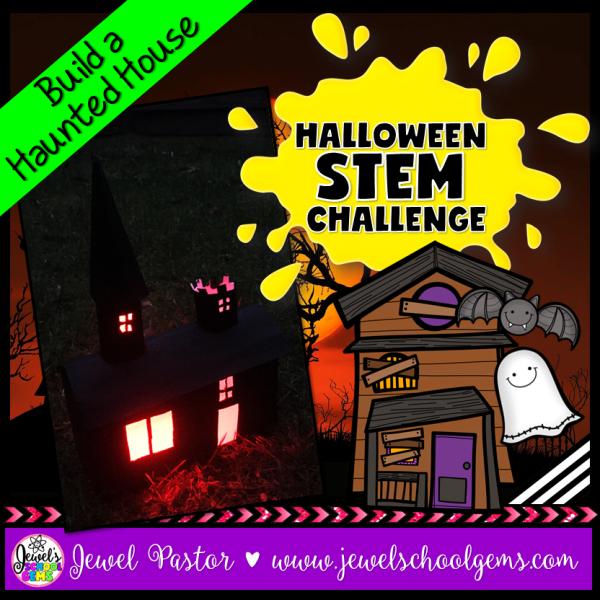 Haunted House Halloween STEM Challenge1