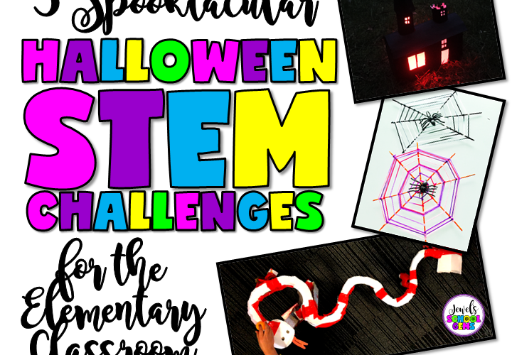 3 HALLOWEEN STEM CHALLENGES | Jewel's School Gems | Looking for Halloween STEM Challenges that don't involve scary tricks and sugary treats? You can find them right here!