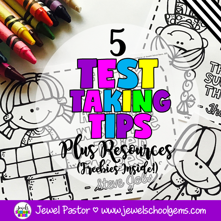 5 TEST TAKING TIPS PLUS RESOURCES (FREEBIES INSIDE!)