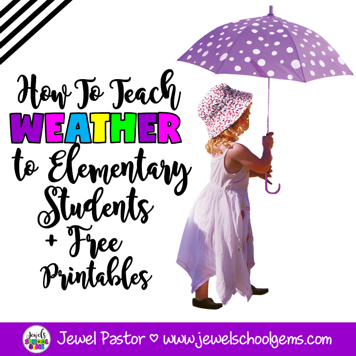 HOW TO TEACH WEATHER TO ELEMENTARY STUDENTS