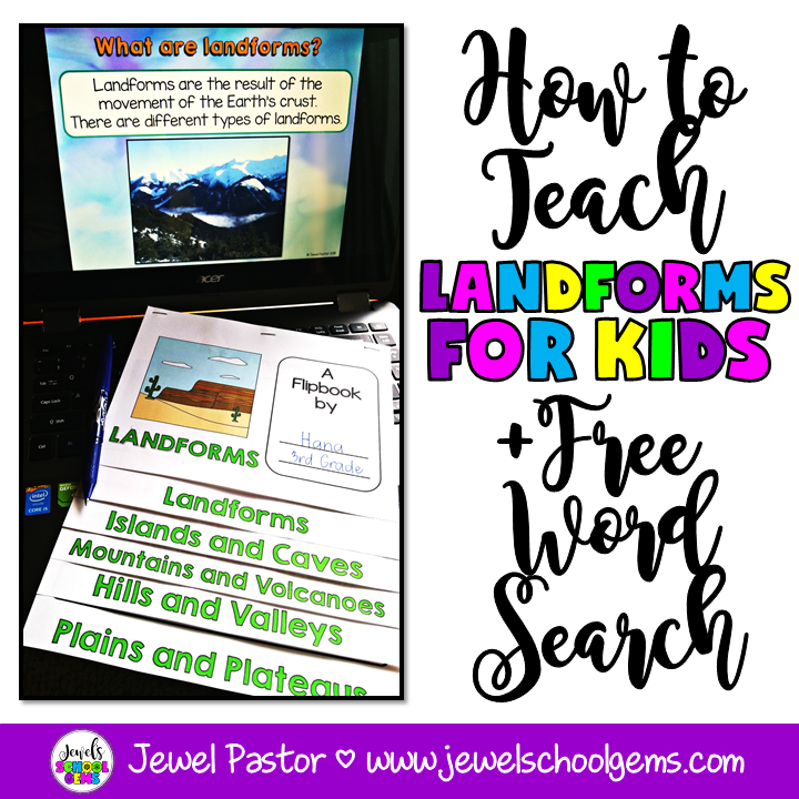 HOW TO TEACH LANDFORMS FOR KIDS
