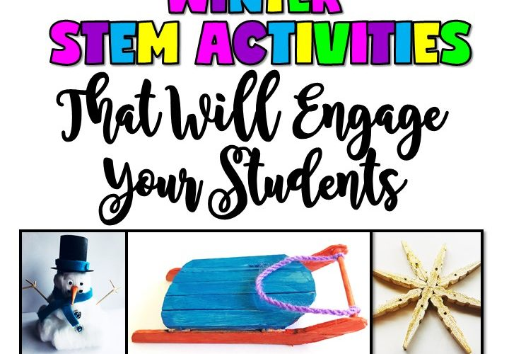 3 WINTER STEM ACTIVITIES THAT WILL ENGAGE YOUR STUDENTS by Jewel's School Gems | Regardless of whether you live in a place where it snows or not, your students will love designing and building with these winter STEM activities.
